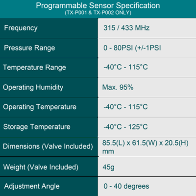 programmable-sensor-specification